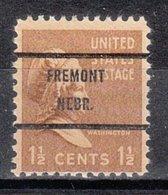 USA Precancel Vorausentwertung Preo, Bureau Nebraska, Fremont 805-71 - Vereinigte Staaten