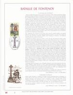 Exemplaire N°1 Feuillet Tirage Limité 500 Exemplaires Frappe Or Fin 23 Carats 2600 Bataille De Fontenoy - Feuillets De Luxe