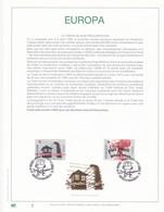 Exemplaire N°1 Feuillet Tirage Limité 500 Exemplaires Frappe Or Fin 23 Carats 2597 2598 Europa Libération Des Camps - Feuillets De Luxe
