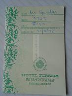 ZA260.11 Hotel FURAMA- HONG KONG - Key Claiming Pass - 1978 - Tickets - Entradas