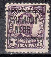 USA Precancel Vorausentwertung Preo, Locals Nebraska, Fremont 555-549 - Vereinigte Staaten