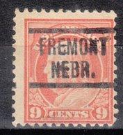 USA Precancel Vorausentwertung Preo, Locals Nebraska, Fremont 1917-549, Stamp Thin - Precancels
