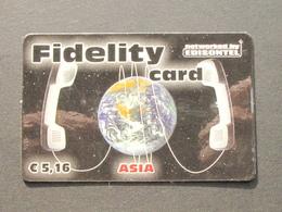 *ITALY* USATA USED - INTERNATIONAL PREPAID PHONE CARD - EDISONTEL FIDELITY CARD - Italia
