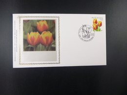 "BELG.2000 2907 FDC Soie/zijde (sint Denijs) : BUZIN "" Tulpen/tulipes "" - 1991-00"