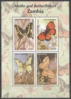 PK305 ZAMBIA FAUNA MOTHS & BUTTERFLIES OF ZAMBIA 1KB MNH - Butterflies