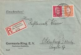 Deutsches Reich / 1928 / Mi. 419 MiF Auf Reco-Brief Ex Langenhagen (5200) - Deutschland