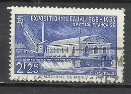 6252-SELLO FRANCIA 1939 EXPOSICION AGUA Nº430,VALOR YVERT 5,50€ Euro;,USADO. - Francia