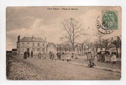 - CPA CUY (89) - Place Et Mairie 1907 (belle Animation) - - Frankrijk