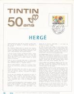 Exemplaire N°001 Tirage Limité 500 Exemplaires Frappe Or Fin 23 Carats 1944 Hergé Tintin Bande Dessinée Jodoigne - Deluxe Panes