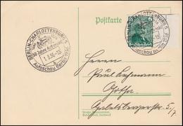 604 Daimler Auf Postkarte Von Der Autoschau In Berlin 1936, SST 1.3.36 - Voitures