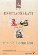 ETB 25/2001 Jugend: Kinderbücher Heidi, Pipi Langstrumpf, Pinocchio - BRD