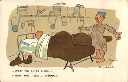 Artiste Cp Cheval, Jean, Französische Soldaten, Schlafend, Betten - Zonder Classificatie