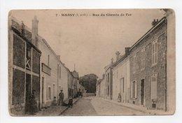 - CPA MASSY (91) - Rue Du Chemin De Fer 1914 (avec Personnages) - Edition Barre N° 7 - - Massy