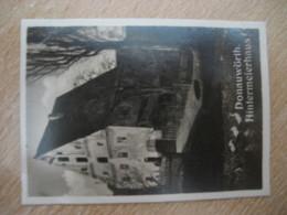 DONAUWORTH Hintermeierhaus Bilder Card Photo Photography (4x5,2cm) Schwaben Bayern GERMANY 30s Tobacco - Zonder Classificatie