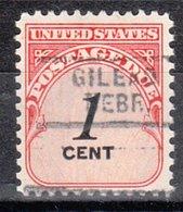 USA Precancel Vorausentwertung Preo, Locals Nebraska, Gillead 729 - Vereinigte Staaten