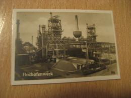 ESSEN Hochofenwerk Krupp'sches Bilder Card Photo Photography (4,3x6,3cm) Technology GERMANY 30s Tobacco - Deutschland