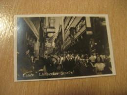 ESSEN Limbecker Linbecker Strasse Bilder Card Photo Photography (4,3x6,3cm) Tourist Centers GERMANY 30s Tobacco - Duitsland