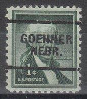 USA Precancel Vorausentwertung Preo, Locals Nebraska, Goehner 703 - Vereinigte Staaten