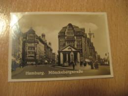 HAMBURG Monckebergstrasse Bilder Card Photo Photography (4,3x6,3cm) Tourist Centers GERMANY 30s Tobacco - Ohne Zuordnung