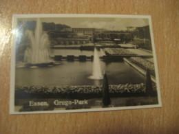 ESSEN Gruga-Park Bilder Card Photo Photography (4,3x6,3cm) Garden Gardens GERMANY 30s Tobacco - Deutschland