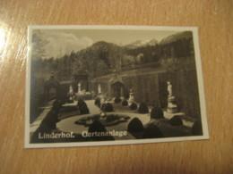 LINDERHOF Gartenanlage Bilder Card Photo Photography (4,3x6,3cm) Garden Gardens GERMANY 30s Tobacco - Deutschland