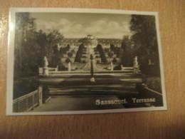 SANSSOUCI Terrasse Potsdam Bilder Card Photo Photography (4,3x6,3cm) Garden Gardens GERMANY 30s Tobacco - Ohne Zuordnung