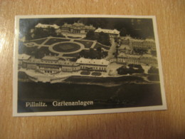 PILLNITZ Gartenanlagen Castle Bilder Card Photo Photography (4,3x6,3cm) Garden Gardens GERMANY 30s Tobacco - Deutschland
