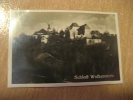 WOLKENSTEIN Schloss Castle Bilder Card Photo Photography (4,3x6,3cm) Erzgebirge Mountains GERMANY 30s Tobacco - Ohne Zuordnung