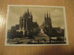ERFURT Dom Severikirche Cathedral Bilder Card Photo Photography (4,3x6,3cm) Church GERMANY 30s Tobacco - Ohne Zuordnung
