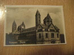 SPEYER Dom Cathedral Bilder Card Photo Photography (4,3x6,3cm) Church GERMANY 30s Tobacco - Deutschland