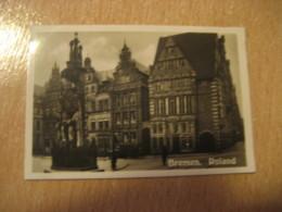 BREMEN Roland Markt Rathaus Bilder Card Photo Photography (4,3x6,3cm) Port Seaport Harbor GERMANY 30s Tobacco - Deutschland