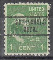 USA Precancel Vorausentwertung Preo, Locals Nebraska, Gothenburg 734 - Vereinigte Staaten