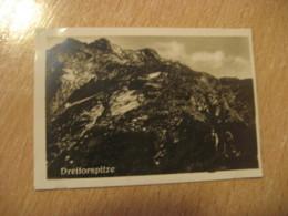 DREITORSPITZE Mountain Bilder Card Photo Photography (4,3x6,3cm) Alpen Alps Alpes Mountains GERMANY 30s Tobacco - Deutschland