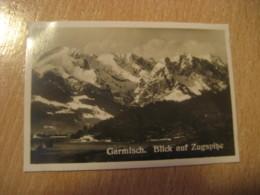 GARMISCH Blick Zugspitze Bilder Card Photo Photography (4,3x6,3cm) Alpen Alps Alpes Mountains GERMANY 30s Tobacco - Deutschland
