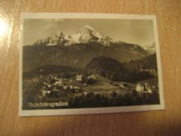 BERCHTESGADEN Mountain Bilder Card Photo Photography (4,3x6,3cm) Alpen Alps Alpes Mountains GERMANY 30s Tobacco - Deutschland