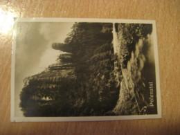 POLENZTAL Talwachter Mountain Mountains Bilder Card Photo Photography (4,3x6,3cm) Saxon Switzerland GERMANY 30s Tobacco - Deutschland