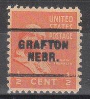 USA Precancel Vorausentwertung Preo, Locals Nebraska, Grafton 703 - Vereinigte Staaten