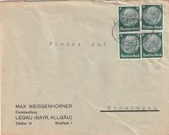 Deutsches Reich / Bahnpost-Stempel LEGAU-MEMMINGEN Auf Brief (MeF) (5208) - Deutschland