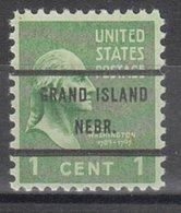 USA Precancel Vorausentwertung Preo, Bureau Nebraska, Grand Island 804-71 - Vereinigte Staaten