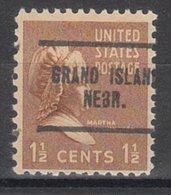 USA Precancel Vorausentwertung Preo, Locals Nebraska, Grand Island 704 - Vereinigte Staaten