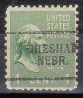 USA Precancel Vorausentwertung Preo, Locals Nebraska, Gresham 703 - Vereinigte Staaten