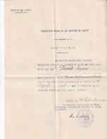 Document Militaire Troupe Du MAROC 1914 Demande De Médaille Coloniale. Infirmière . Union Des Femmes De France - Documenten