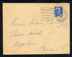 MAURY N° 886: S/LSI - 1952  - OM DAGUIN- (DEPT EURE ET LOIR): CHATEAUNEUF EN THIMERAIS SA PISCINE SA FORET - Marcophilie (Lettres)