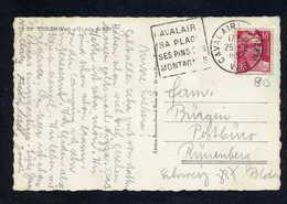 MAURY N° 887: S/CPE SUISSE - 1952  - OM DAGUIN- (DEPT VAR): CAVALAIRE SA PLAGE SES PINS SES MONTAGNES - Marcophilie (Lettres)
