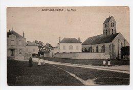 - CPA SOISY-SUR-ECOLE (91) - La Place (avec Personnages) - - Francia