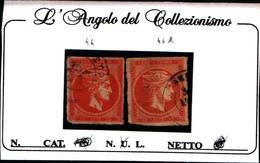 10260) GREECE-GRECIA, LARGE HERMES HEAD: 2X10 Lepta, ARANCIO, N.44-44A-USATI - Oblitérés