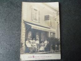 Cpa Photo 38 Jallieu Café Vallin - France