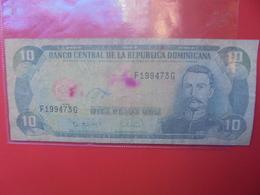 DOMINIQUE 10 PESOS 1996 CIRCULER (B.6) - Dominicaine