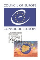 Spanish Andorra 2019 - Special Issue Spain/Andorra - Council Of Europe Maximum Card - Nuevos