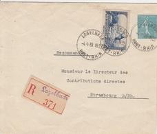 France Alsace Lettre Recommandée Logelbach 1939 - Postmark Collection (Covers)